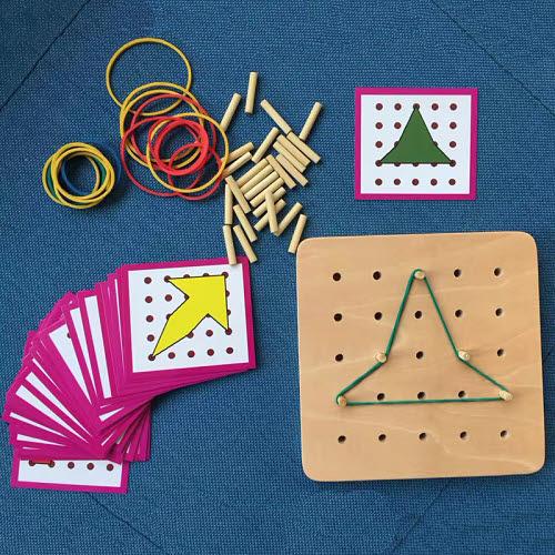 Mini Geo Design Board & Cards - Geo Board with Rubber Strings