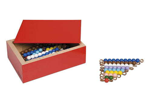 Bead Stair Bars 1-9 Coloured Individual Beads (5 Sets) in Box - Bead Stair Bars 1-9 Coloured Individual Beads (5 Sets) Individual Beads (3 Sets)