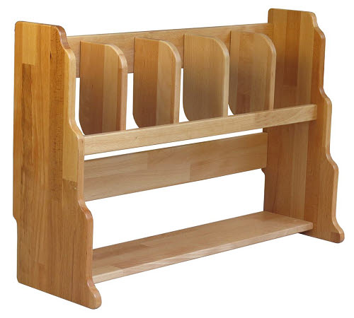 Stand for 5 Mats in Beech Wood (lrg) - Stand for 5 Mats in Beech Wood