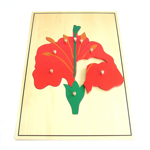 Large Flower Puzzle with Wooden Knobs - Large Flower Puzzle with Wooden Knobs