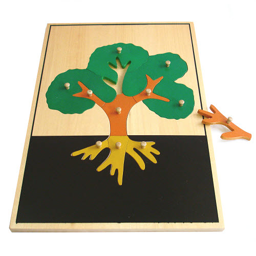 Large Tree Puzzle with Wooden Knobs - Large Tree Puzzle with Wooden Knobs