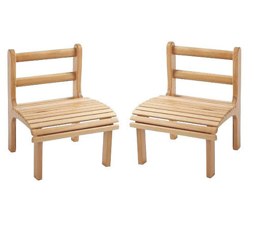 Chair Slatted Beech Wood, Infant Size (Set of 2 Chairs) - Chairs Slatted Beech Wood, Infant Size