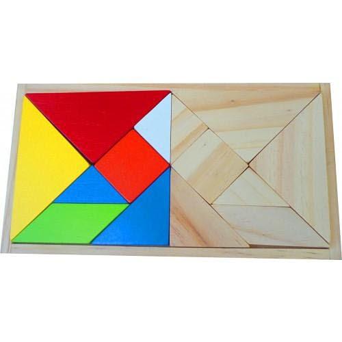 Double Tangram Wooden Set - Tangram Classic Wooden Set