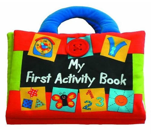 My First Activity Book - Cloth Book by M&D - VG - My First Book 12/DB