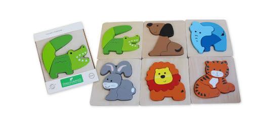 Discoveroo - Chunky Anim Puzzles (each) - Discoveroo - Chunky Anim Puzzles (each)