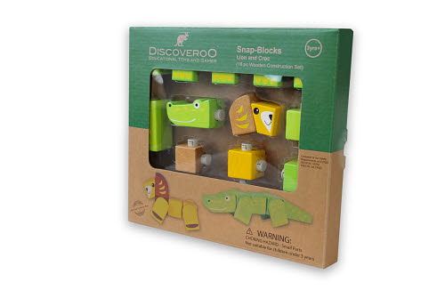 Discoveroo -Snap blocks Lion & Croc - Discoveroo -Snap blocks Lion & Croc