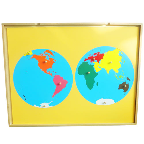 Puzzle Map Of The World Parts in Tray - Puzzle Map Of The World Parts in Tray