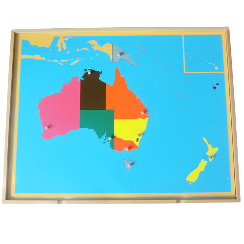 Puzzle Map of Australia in Tray - Puzzle Map of Australia in Tray