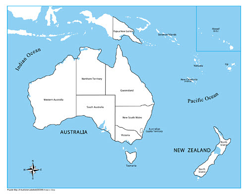 Plastic Control Map Labelled - Australasia - Plastic Control Map Labelled - Australasia