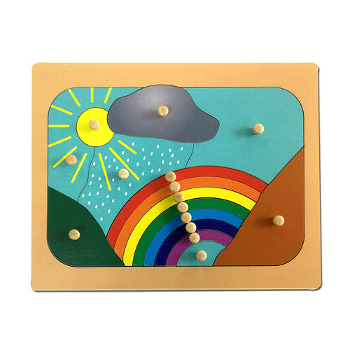 Weather Rainbow Puzzle - Timber - Weather Rainbow Puzzle - Timber