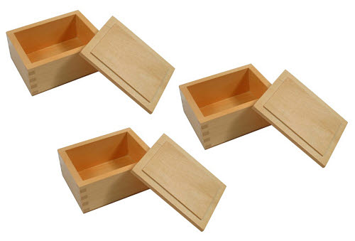 Wooden Box with Lid Set of 3 - Wooden Box with Lid