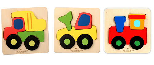 Discoveroo - Chunky Vehicles Puzzles (each) - Discoveroo - Chunky Vehicles Puzzles (each)