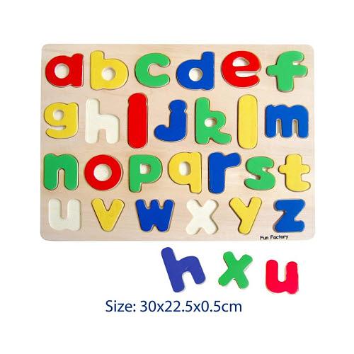 Raised Alphabet Puzzle - Lower Case - Raised Alphabet Puzzle - Lower Case