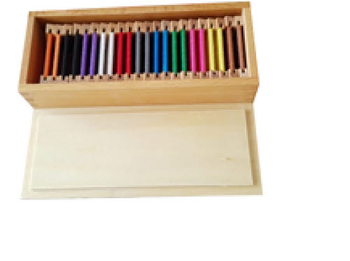 Silk Second Box of Colour Tablets - Wooden Holders - Silk Second Box of Colour Tablets - Wooden Holders