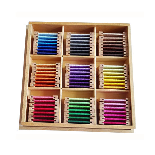 Silk Third Box of Colour Tablets - Wooden Holders - Silk Third Box of Colour Tablets - Wooden Holders