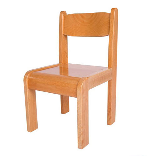 Chair Solid Beech Wood Natural Finish 3-6 - Chair Beech Wood Natural Finish