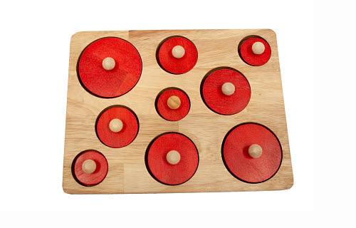 Circle Shape Puzzle - 9 circles - Circle Shape Puzzle - 9 circles