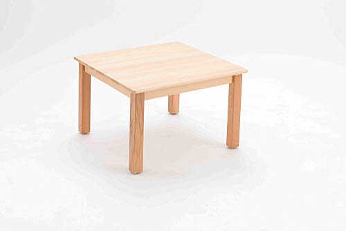 Table Square Beech Wood - sml 50cm high - Table Square Beech Wood 50cm high