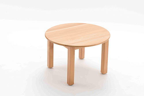Table Round Beech Wood 40cm high - Table Round Beech Wood 40cm high