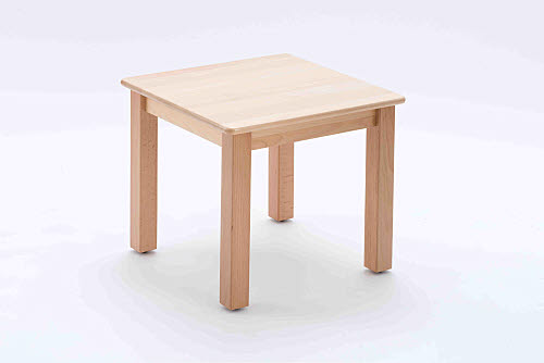 Table Square Beech Wood - Med 45cm high - Table Square Beech Wood 45cm high