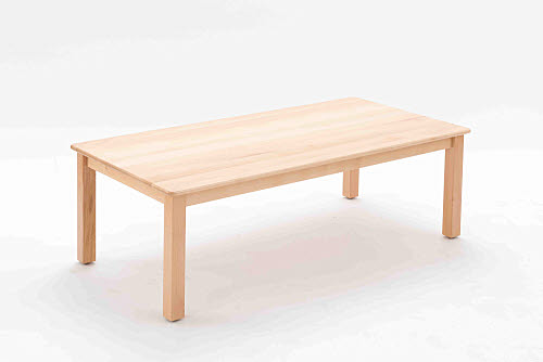 Table Rectangle Beech Wood 45cm high - Table Square Beech Wood 45cm high