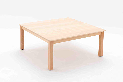 Table Square Beech Wood - lrg 40cm high - Table Square Beech Wood 40cm high