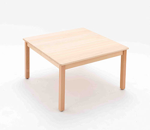 Table Square Beech Wood - Lrg 50cm high - Table Square Beech Wood 50cm high