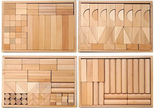 Natural Beechwood Block 180pcs - 4 Box Set - Natural Beechwood Block 180pcs - 4 Box Set