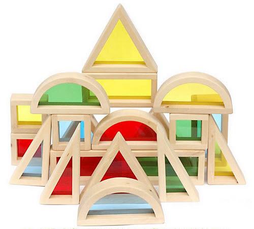 Wooden Rainbow Blocks - Wooden Rainbow Blocks