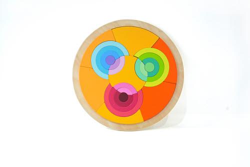 Circle Wooden Rainbow Blocks - Circle Wooden Rainbow Blocks