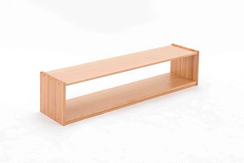 Infant Shelf Unit Open 1 Bay in Beech Wood - Infant Shelf Open 1 Bay in Beech Wood