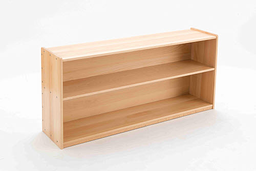 Child Shelf Unit Closed 2 Bays in Beech Wood - Child Shelf Unit Closed 2 Bays in Beech Wood