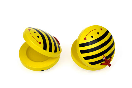 Bee Wooden Castanets (set of 2) - Bee Wooden Castanets (set of 2)