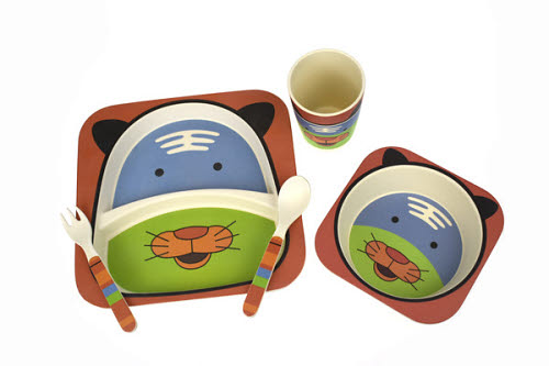 Bamboozoo Dinnerware Tiger 5PC - Bamboozoo Dinnerware Tiger 5PC