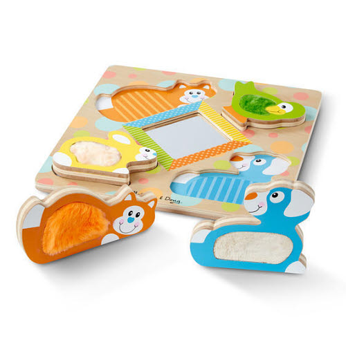 M&D - First Play - Touch & Feel Puzzle - Pets - Touching Board