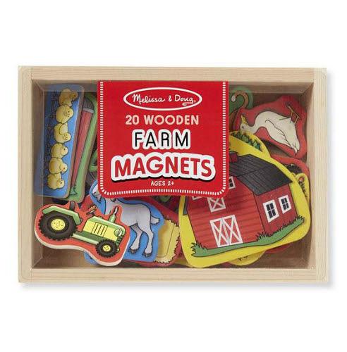 M&D - Magnetic Wooden Farm Set in Box 20pcs - M&D - Magnetic Wooden Farm Set in Box 20pcs