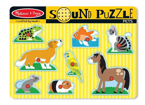M&D - Pets Sound Puzzle - 8pc - M&D - Pets Sound Puzzle