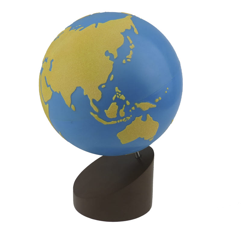 Globe Of  Land & Water (Sandpaper) Factory Seconds - Globe Of  Land & Water (Sandpaper)