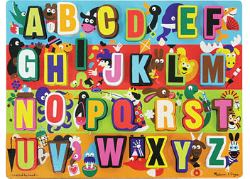 M&D Jumbo Alphalbet Chunky Puzzle - Alphabet Puzzle Board Large