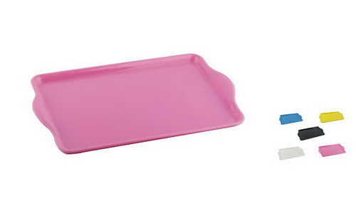 Melamine Tray with Handle - large (comes in Pink, Yellow, White, Blue, Black) specify colour in comments when ordering - Melamine Tray with Handle - large (comes in Pink, Yellow, White, Blue, Black) specify colour in comments when ordering
