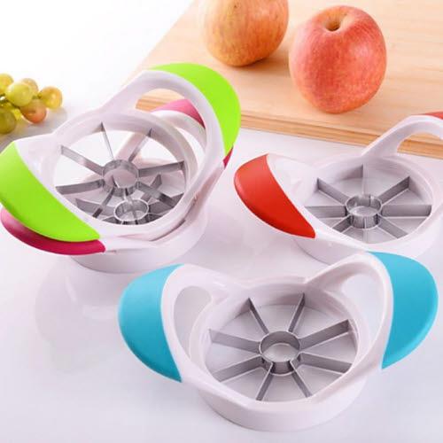 Apple Slicer - Heavy Duty White Plastic - Apple Slicer - Stainless Steel