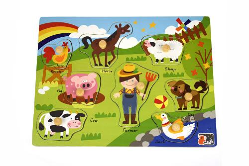 2in1 Farm Animal Peg Puzzle - 2in1 Farm Animal Peg Puzzle