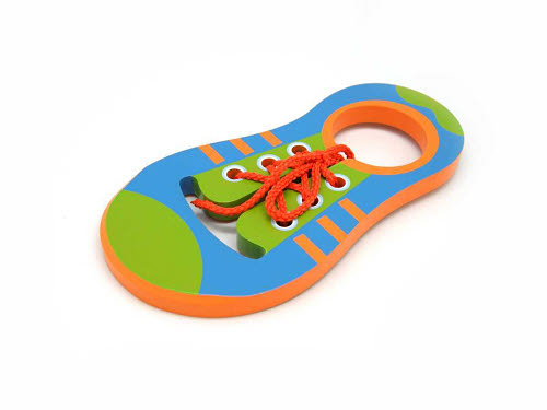 Wooden Learn To Tie Shoe Lace - Wooden Learn To Tie Shoe Lace