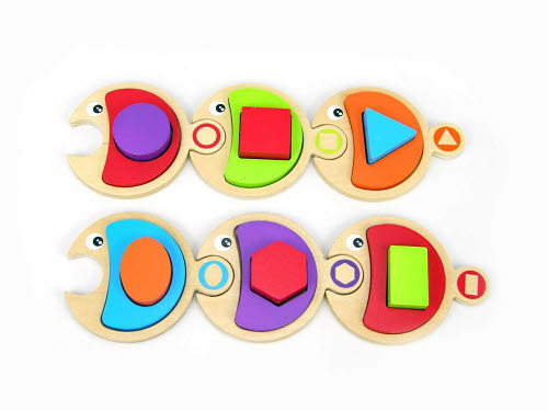 M&D Fish With Shapes Puzzle - Fish With Shapes Puzzle