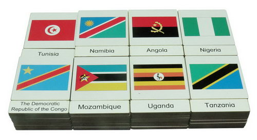 Classification 3 Part Timber Cards - African Flags - Classification 3 Part Timber Cards - African Flags