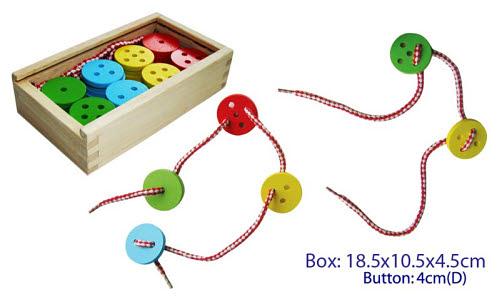 Lacing Buttons 40pc w/2 laces - Lacing Buttons 40pc w/2 laces