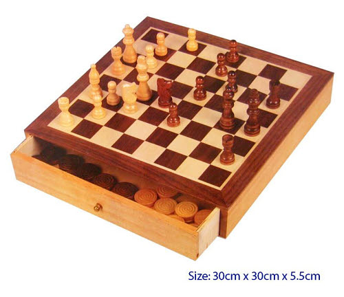 Chess & Checkers with 2 Draws - Chess & Checkers with 2 Draws