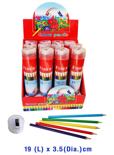 Coloured Pencils 12pc Metal Tube - Coloured Pencils 12pc Metal Tube