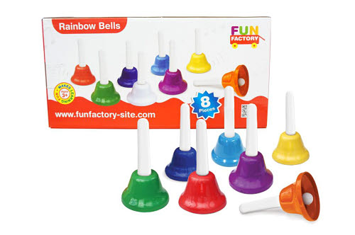 Bells Set - 8 Tone w/plastic Handle - Bells Set - 8 Tone w/plastic Handle