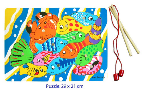 Fishing Game Magnetic Board Puzzle with 2 Rod - Fishing Game Magnetic Board With 2 Rod